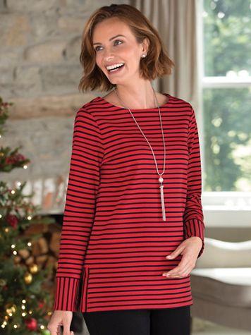 Stripe Ponte Knit Tunic - Image 3 of 3