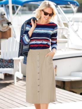 Nautical Rope-Print Knit Tee