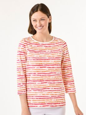 Two-Tone Painted Stripe Tee