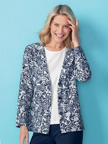 Everday Knit Print Cardigan - Image 1 of 2