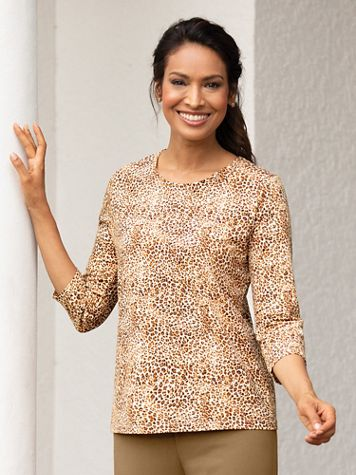 Mini Leopard-Print Cotton Tee - Image 3 of 3