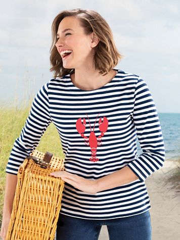 Simply Stripes Lobster Tee - Image 4 of 4