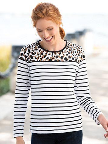 Animal-Print & Stripe Long-Sleeve Tee - Image 3 of 3