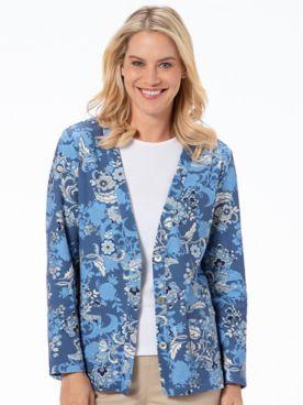 Kate Jacobean-Print Everyday Knit Cardigan