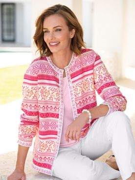 Spring Floral Limited-Edition Cotton Cardigan