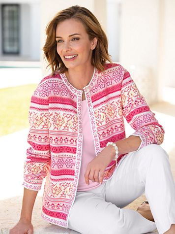 Spring Floral Limited-Edition Cotton Cardigan - Image 0 of 1