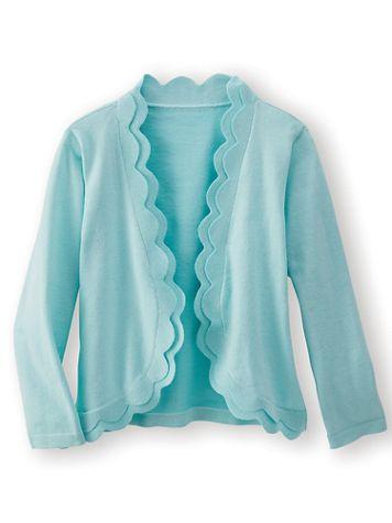 Scallop-Trim Sweater Shrug - Image 3 of 3