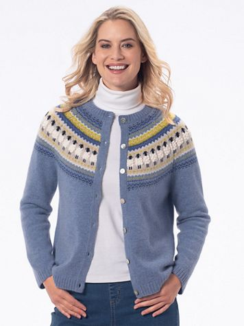 Limited-Edition Soft Wool-Blend Sheep Cardigan Sweater - Image 1 of 1