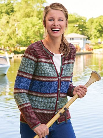 Cider House Fair Isle Cardigan Sweater - Image 2 of 2