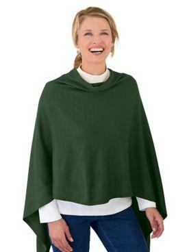 Draped Poncho Sweater