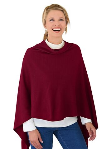 Draped Poncho Sweater - Image 1 of 1