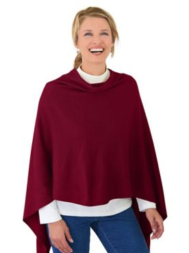 Draped Poncho Sweater