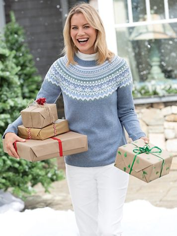 Limited-Edition Fair Isle Yoke Sweater