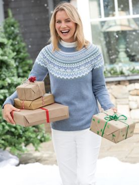 Limited-Edition Fair Isle Yoke Sweater