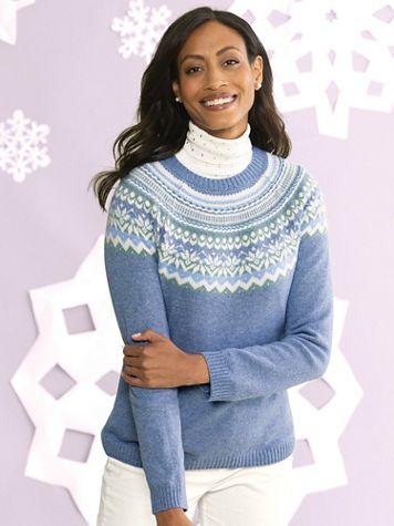 Limited-Edition Fair Isle Yoke Sweater - Image 3 of 3