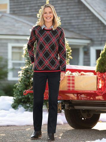 Bias Plaid Jacquard Sweater - Image 1 of 2