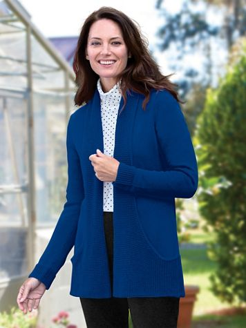 Infinity Pocket Open-Front Long-Sleeve Cardigan - Image 1 of 2