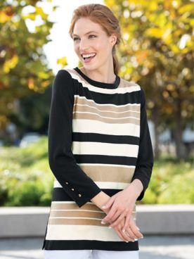 Neutral Stripe Madison Sweater
