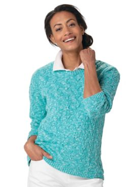 Cotton Basketweave Sweater