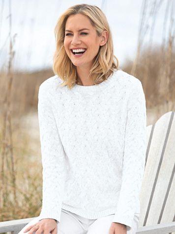 Cotton Basketweave Sweater - Image 3 of 3