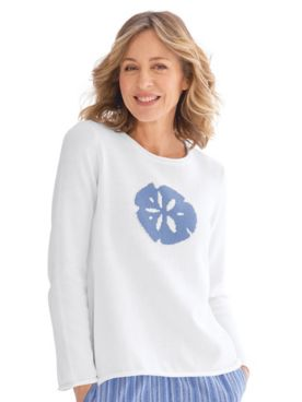 Sea Life Cotton Jacquard Sweater