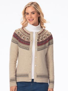 Limited Edition Wool Blend Squirrel Cardigan Sweater