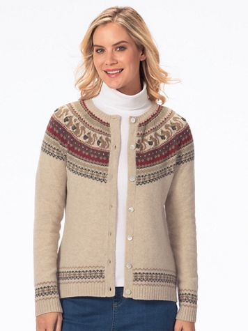 Limited Edition Wool Blend Squirrel Cardigan Sweater - Image 3 of 3