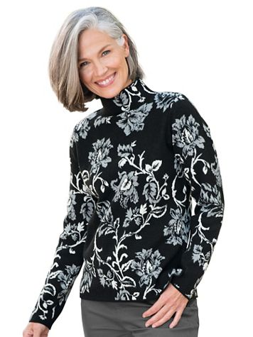 Floral Jacquard Mockneck Sweater - Image 3 of 3