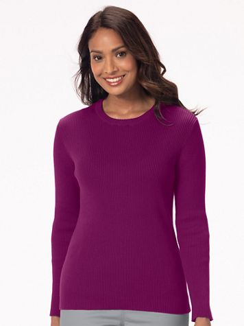 Ribbed Cotton Crewneck Sweater - Image 1 of 12