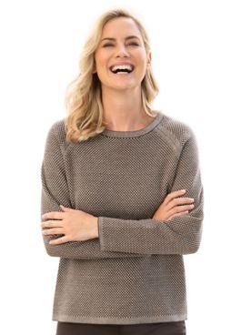 Raglan Sleeve Birdseye Sweater