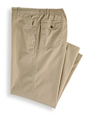 John Blair Relaxed-Fit Back-Elastic Casual Pants