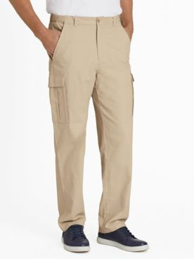 Adjust-A-Band Wrinkle- and Stain-Resistant Cargo Pants