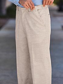 1950s Style Men's Pants John Blair Linen-Look Adjust-A-Band Pants $39.99 AT vintagedancer.com