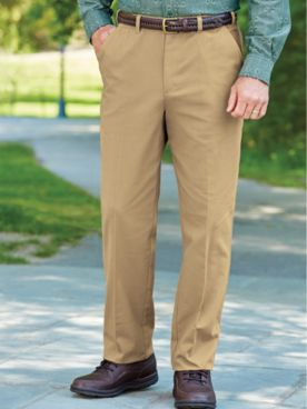 Adjust-A-Band Neat-Fit Twill Pants