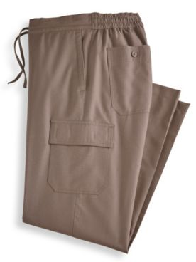 John Blair Linen-Look Cargo-Pocket Pants