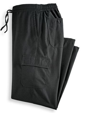 John Blair Linen-Look Cargo-Pocket Pants - Image 0 of 1
