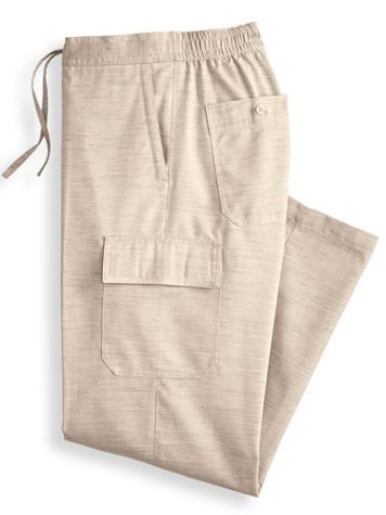 John Blair Linen-Look Cargo-Pocket Pants - Image 4 of 4