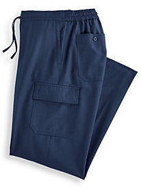 Linen-Look Cargo-Pocket Pants by Blair