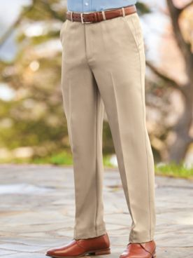 Adjust-A-Band Neat-Fit Gabardine Dress Pants
