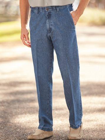 Haggar® Stretch Denim Trousers - Image 2 of 2