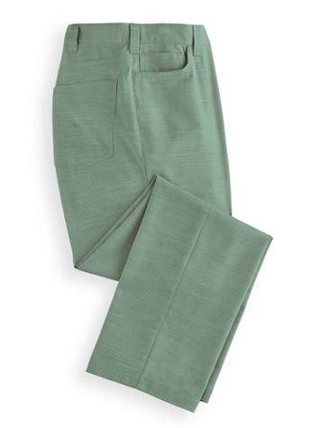 John Blair® Linen-Look 5-Pocket Pants