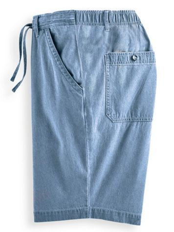 Scandia Woods Relaxed-Fit Denim Drawstring Shorts - Image 1 of 3