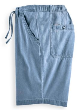 Scandia Woods Relaxed-Fit Denim Drawstring Shorts