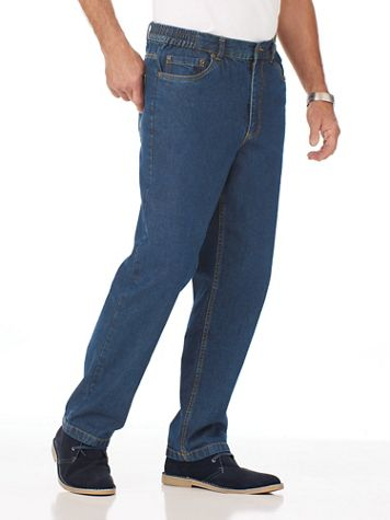 Scandia Woods Classic-Fit Side-Elastic Jeans - Image 1 of 3