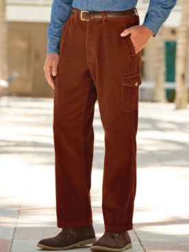 Scandia Woods Corduroy Cargo-Pocket Pants