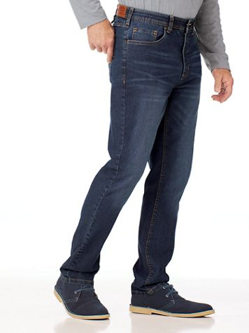 Scandia Woods Slim-Fit Hidden Elastic-Waist Stretch Jeans - Image 1 of 4