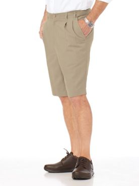 Adjust-A-Band Relaxed-Fit Pleated-Front Wrinkle-Resistant Shorts