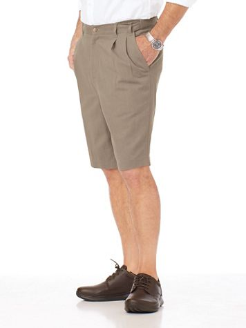 Adjust-A-Band Relaxed-Fit Pleated-Front Wrinkle-Resistant Shorts - Image 2 of 2