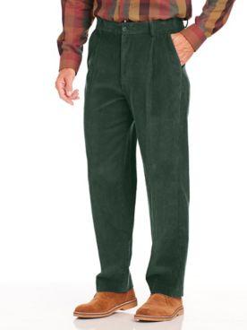 John Blair Relaxed-Fit Hidden Elastic Wide-Wale Corduroy Pants