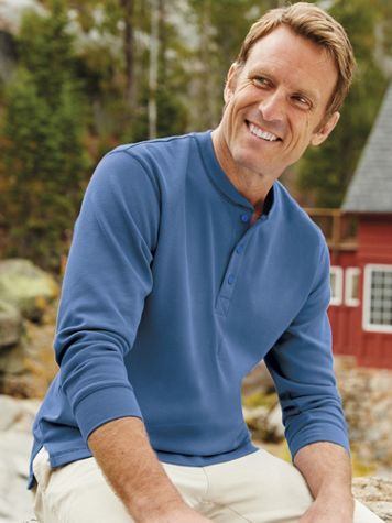 Scandia Woods WaffleKnit Henley Shirt - Image 1 of 7